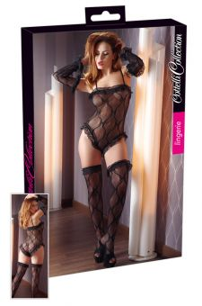 Cottelli Collection - Body Lace With Gloves & Stockings (Size S/M)