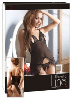 Cottelli Collection - Open Cup Flowing Babydoll (Size M)