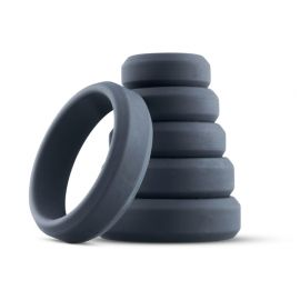 6-Piece Cock Ring Set (Small to Extra Large)