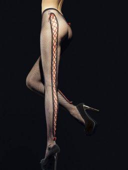 Fiore Invito 40 den (Size 2) Black Stay-Up Suspender Tights