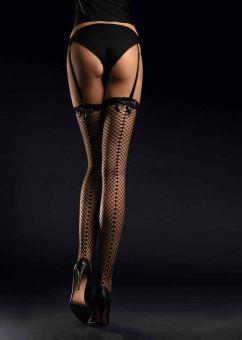 Fiore Satine 30 den (Size 2) Fishnet Stockings (Black)