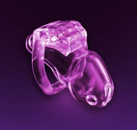 Chastity Device: Swiss Made Holy Trainer v4 Men's BABY PINK (Small) 45mm Wide