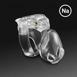 Chastity Device: Swiss Made Holy Trainer v4 Men's Clear Color (Nano size) 40mm Wide