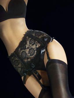 Fiore Vesuvio 40 den (Size 2) Luxury Lace Suspender Belt