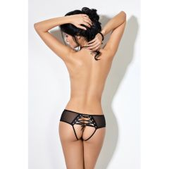 Le Frivole Crotchless Panties With Lacing (Extra Small/Small)
