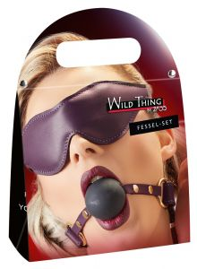 Zado Premium Leather Blindfold & Ballgag Set