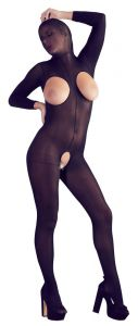 Mandy Mystery - Hooded Sheer Catsuit (One Size)