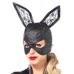 Leg Avenue Artificial Leather Bunny Mask - Black