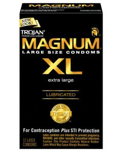 Trojan Magnum XL Lubricated Condom (Extra Large) - Box of 10