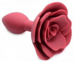Master Series Booty Bloom Silicone Anal Plug With Rose