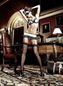 Baci No.876 Garter Miniskirt