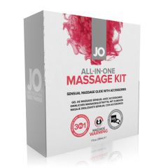 System Jo All-in-One Warming Silicone Massage and Intimate Lubricant Gift Set