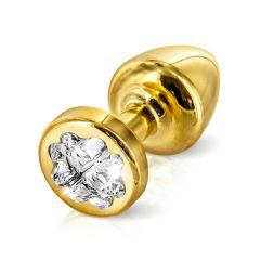 Diogol - Anni R Swarovski Crystal Clover Gold 25mm