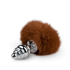 EasyToys Bunny Tail Plug No. 2 - Silver/Brown