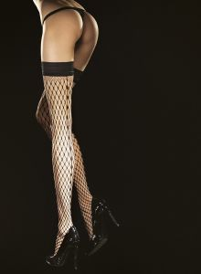 Fiore Intensa 40 den (Size 2) Stay-Up Stockings Black