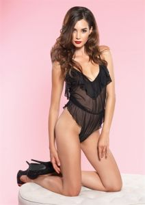Leg Avenue High Cut Flutter Teddy