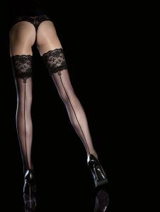 Fiore Leyla 20 den (Size 2) Stay-Up Stockings Black