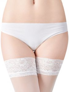 Fiore Milena 20 den (Size 2) Stay-Up Stockings WHITE