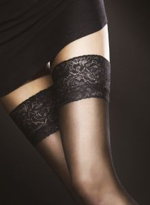Fiore Milena 20 den (Size 2) Stay-Up Stockings (Black)
