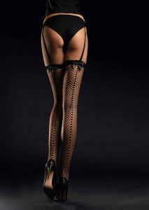 Fiore Satine 30 den (Size 2) Fishnet Stockings (Black)