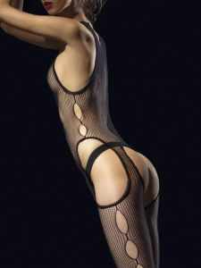 Fiore Secreto (Size 2) Black BodyStocking
