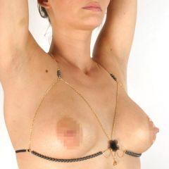 Sylvie Monthule - Soutien Gorge Or Perles Hematites Bra