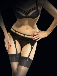 Fiore Vision 40 den (Size 2) Luxury Suspender Belt