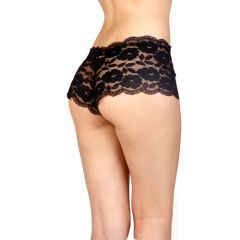 Vixson High Waist Lace Panties Black - Small/Medium