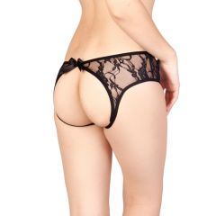 Vixson Crotchless Lace Panties With Open Back - Small/Medium